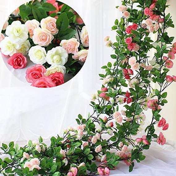 1.8M Künstliche Rose Girlande Hängende Girlande Blumen Hochzeit Party Dekoration