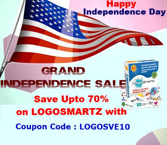 Celebrate Independence Day with Logosmartz Grand Sale. Make a visit to http://www.logosmartz.com/store/ordernow.asp and then apply COUPON CODE: LOGOSVE10 and Save as big as 70%.