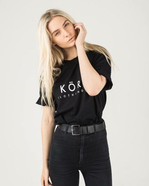 Black on black // @lucillecroft x Köro / Our Salvaged Tee / Also available in white / Tap the link in our bio to shop now
