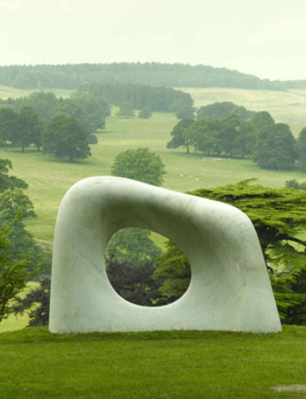 sculpture - looks fantastic, framed by a beautiful landscape...