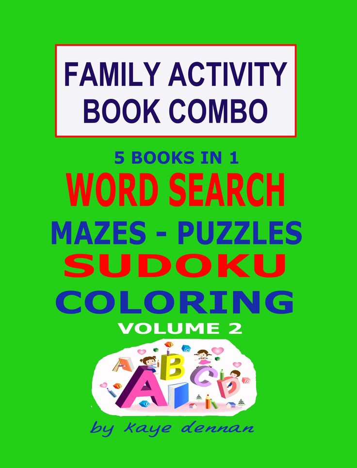 5 books in 1 for family fun together.