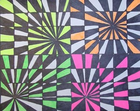 Op Art by Amber, grade 5 (Art Teacher Donna Staten)