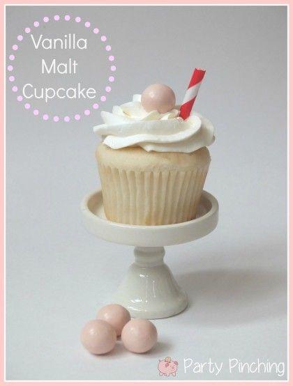 vanilla malt cupcake, vanilla malt cake, malt cake