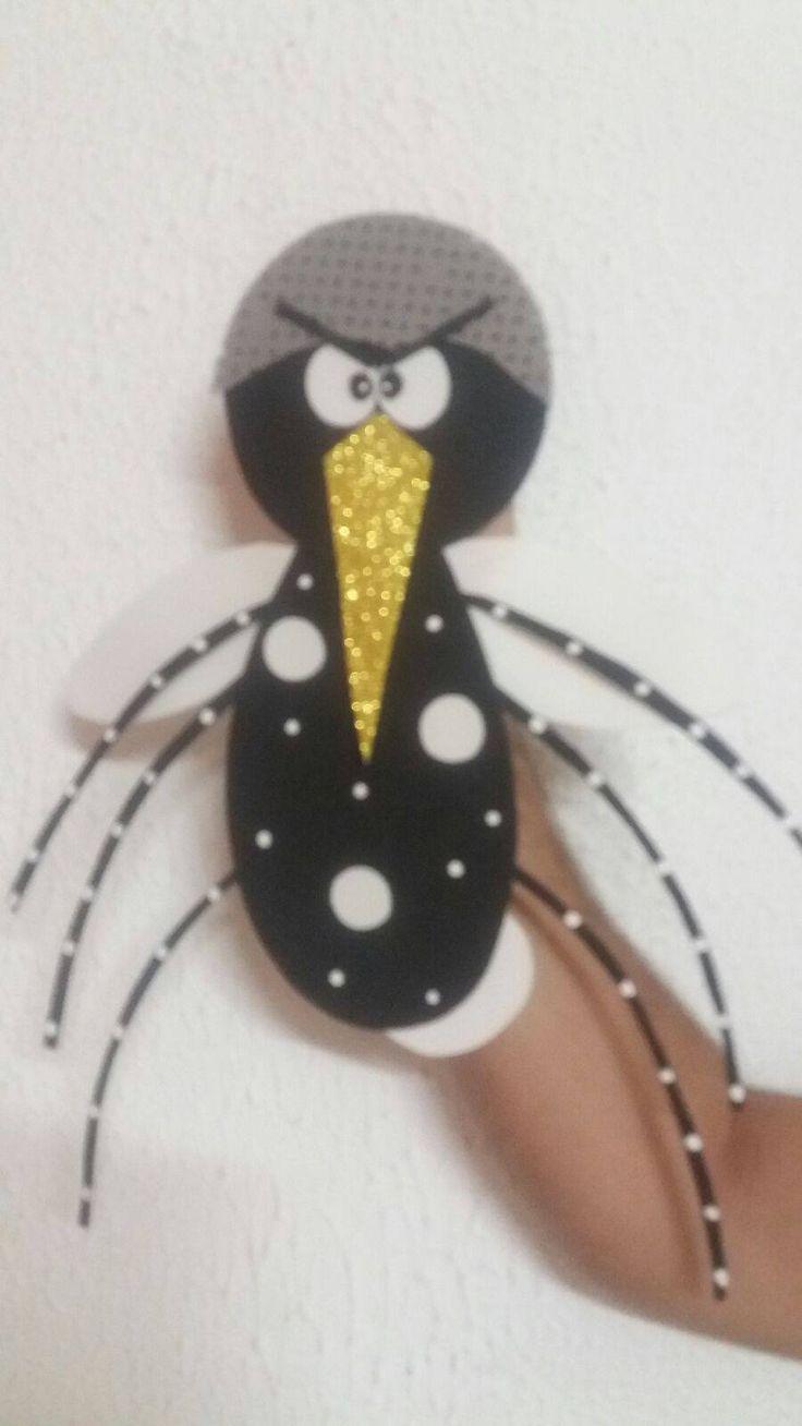 Ensinando com Carinho: Fantoche do mosquito da dengue com molde