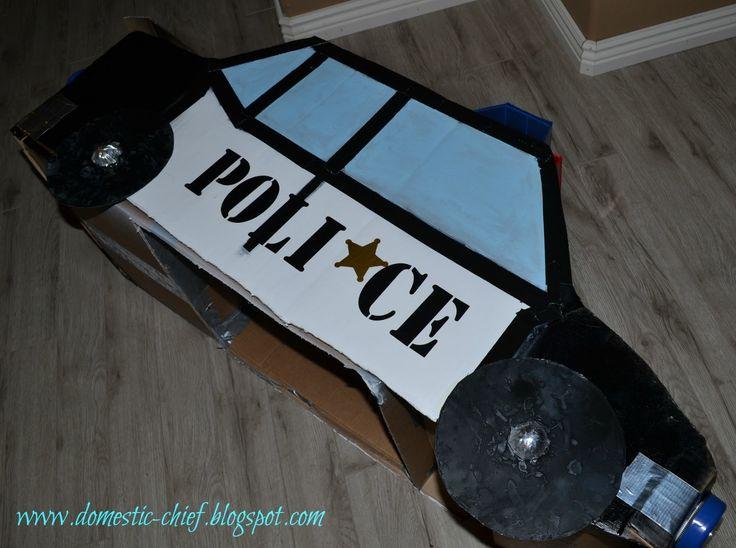 cardboard box cop car   Chief Domestic Officer: Cardboard box Police Car
