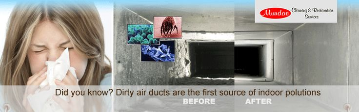 Did you know? Dirty air ducts are the first source of indoor polutions, call Mundae, Air duct cleaning Katy  http://www.mundae.com/air-duct-cleaning-katy-tx