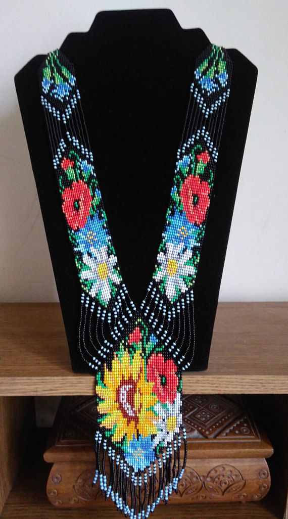 Украинский цветочный гердан полевые цветы красочные ожерелья