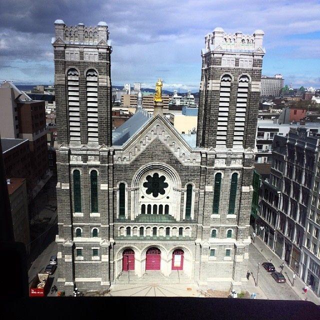 Ville de Québec à Québec,  Église St-Roch, Centre-Ville de Québec dans la basse Ville.