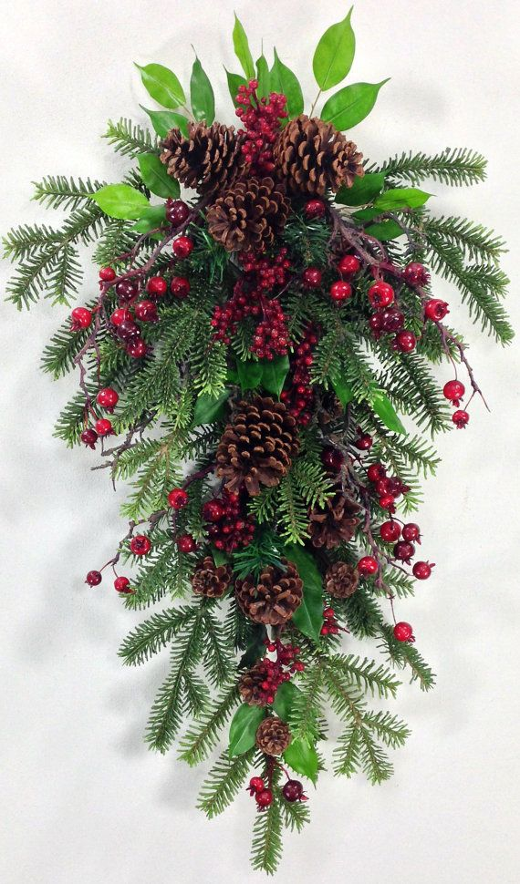 Such a beautiful Pine and Berry Swag - I could see myself using this as a wreath instead of a traditional one.