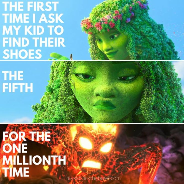 Mom Humour, Meme based on Moana Movie, Te Fiti