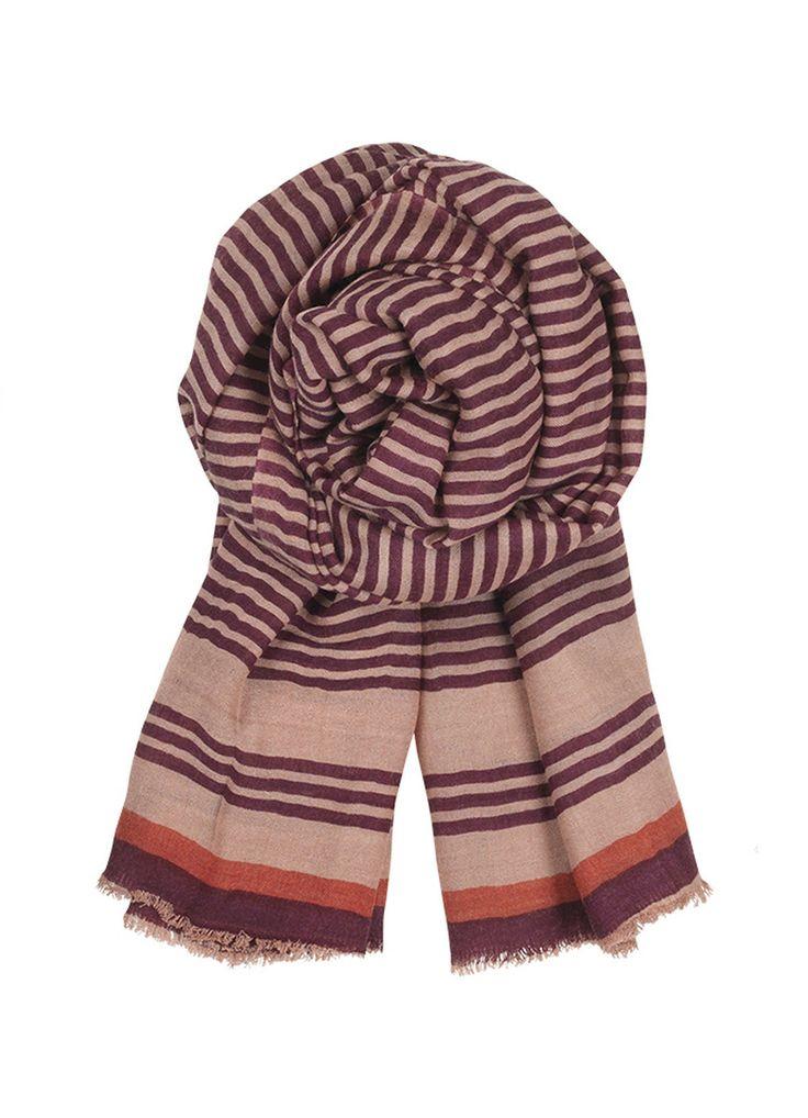 Wooly Stripes Scarf - Powder | Nomadista.co. ethical fashion, fashion for good, responsible fashion, ecofashion, sustainable fashion
