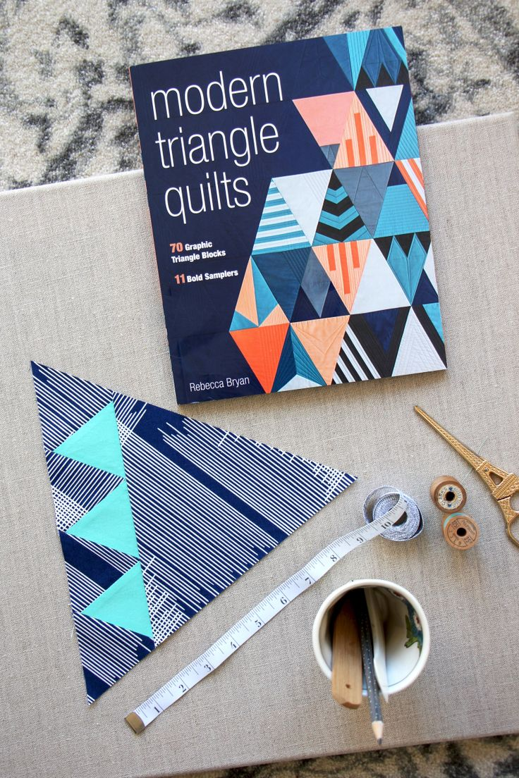 Modern Triangle Quilts: Book Tour and Giveaway