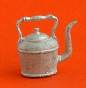 1/24th scale Victorian style kettle.Made from white metal. Can be painted.14mm tall.