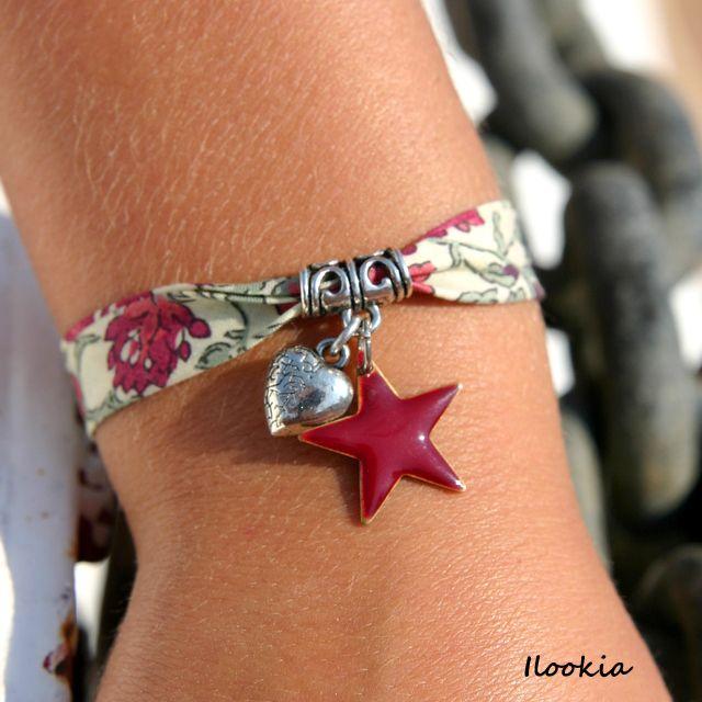 Bracelet liberty coeur & étoile