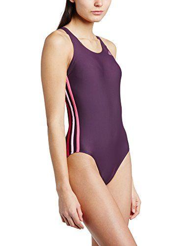 Adidas Infinitex - Costume da bagno intero con 3 strisce, nero (Rich Red/Semi Solar Pink/Frost Pink/Pink Buzz), Taglia 34 adidas http://ebay.to/1QypuRM