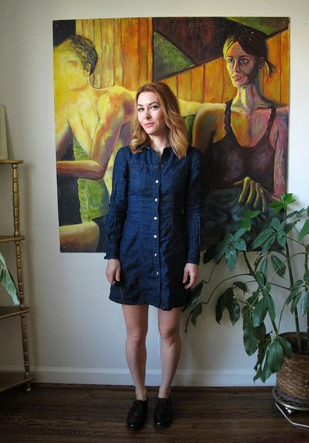 Lauren's Denim Rosa Dress - sewing pattern from Tilly and the Buttons