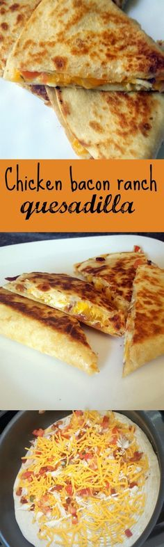 Chicken bacon ranch quesadilla - A crispy quesadilla filled with chicken, bacon and ranch. With the added kick of jalapenos and pico de gallo.