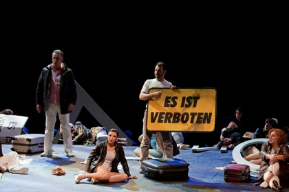 """2010 Theatre du Capitole Toulouse- big """"forbidden"""" sign"""