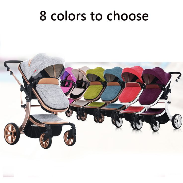Russian wholesale new luxury baby stroller 3 in 1 high landscape three dimensional four round baby stroller carts strollers-in Strollers from Mother & Kids on Aliexpress.com | Alibaba Group