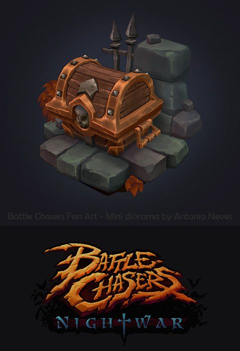 Battle Chasers fan art, Antonio Neves on ArtStation at https://www.artstation.com/artwork/aERAR