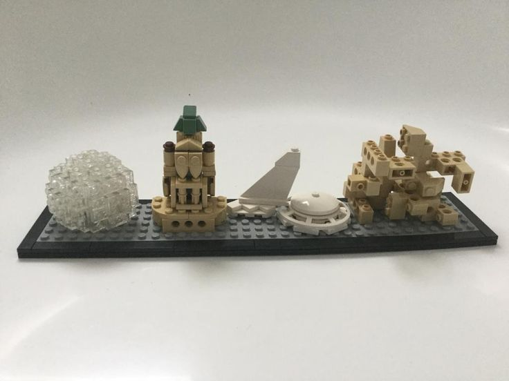 I built some of the famous Montreal attractions such as the biosphere, Saint-Joseph's oratory, the Olympic stadium and habitat 67. I spent a lot of time on every building trying to make it good looking except for Habitat 67, which I just stacked bricks in bricks. I hope that you all enjoy my creation.