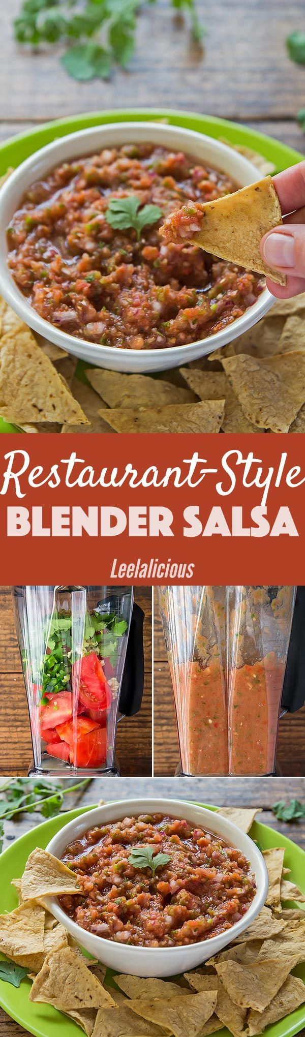 This easy restaurant-style salsa is made in the blender with healthy, fresh ingredients. It's great for dipping or to use in any Mexican recipes. Sponsored Appetizer | Condiment | Tomatoes