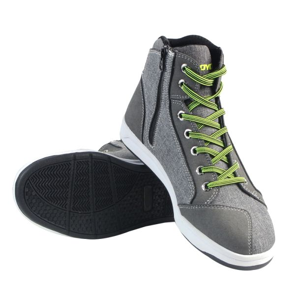 Men Short Boots Casual Sports Motorcycle Riding Shoes Breathable Grey For Scoyco