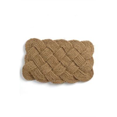 sailor's knot coir doormat 18x30