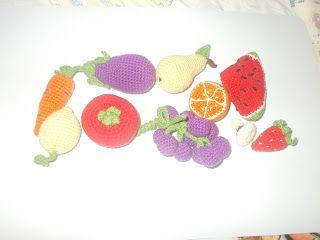 fruits and vegetables amigurumi by plektologio