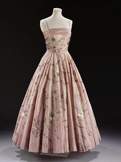 1955 Clarke for the House of Worth dress
