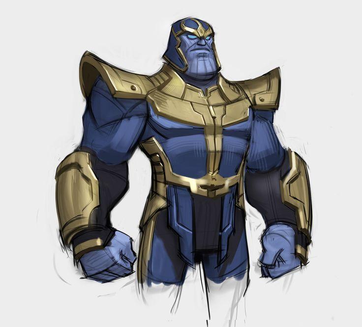 Rough Concept of Thanos for one of the Marvel Infinity Playsets. , Josh Black on ArtStation at https://www.artstation.com/artwork/LEagA