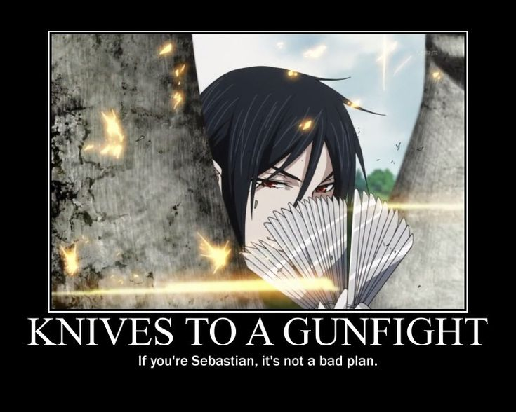 Funny Anime Motivational Posters | Tags: Anime, Kuroshitsuji, Sebastian Michaelis, Demotivational Poster