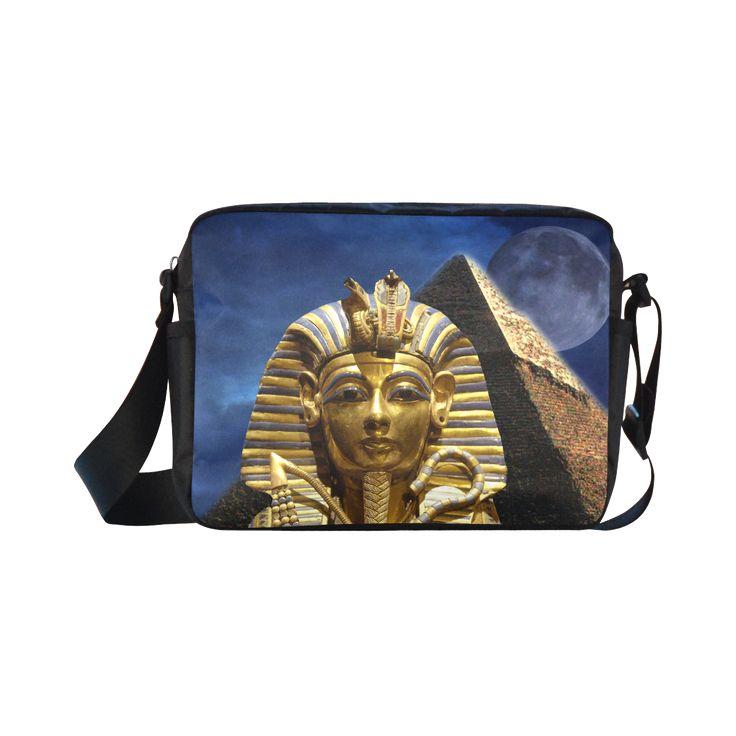 King Tut and Pyramid Classic Cross-body Nylon Bag. FREE Shipping. #artsadd #bags #egypt