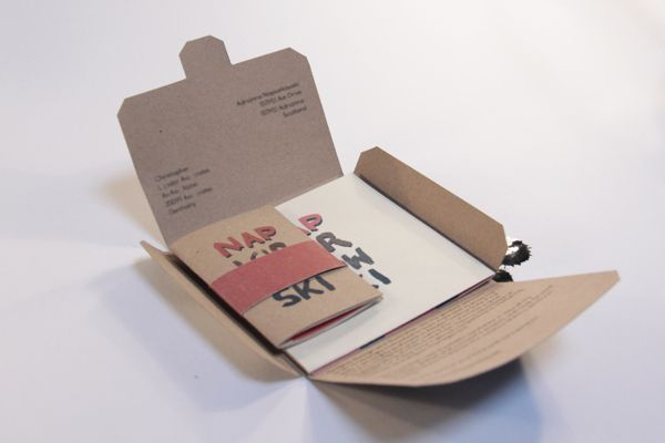 Self promotion idea. Nice little promo kit to send out.: