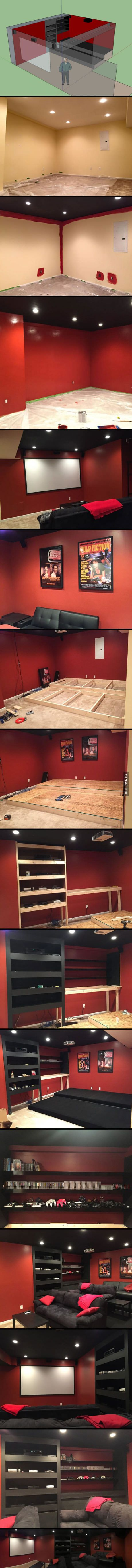 Basement Home Theater Build! [21 PICS]                                                                                                                                                      More