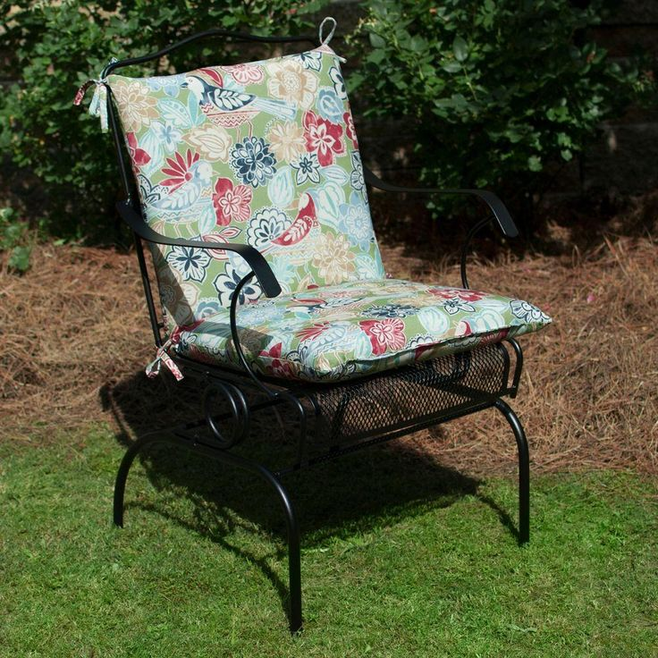 Charming Plantation Patterns Hampton Bay Jean Floral Mid Back Outdoor Chair Cushion  Available At The Home Depot