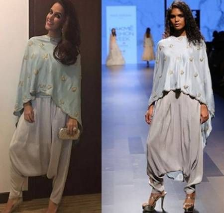 Cape And Dhoti Pants Leads to Good Fusion Wear... Undoubtedly Payal Singhal is one of the favorite designers of Neha Dhupia. Therefore, Neha once again donned Payal's indowestern look, this time a cape kurta with Dhoti pants is what the actress wore taking fusion wear to next level and she looked charismatic... Get the look at https://www.estrolo.com/whatstrending/cape-dhoti-pants-leads-good-fusion-wear/