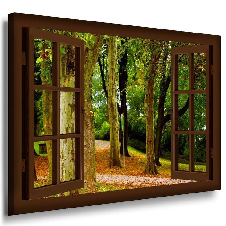 Dusche Fenster Im Weg : Fenster Bild Fensterblick Wald-weg Herbst, B?ume Wandbilder Variante