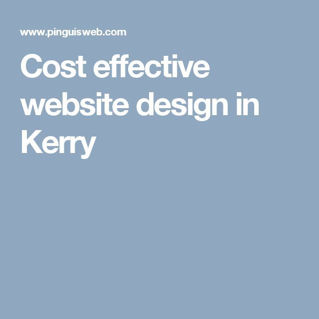 Cost effective website design in Kerry