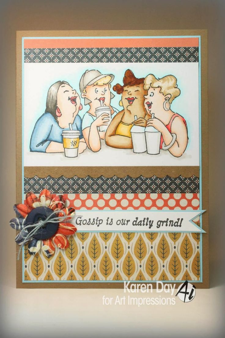 Latte girls sold individually. made by: Art Impressions Rubber Stamps. You can find these stamps @ patsrubberstamps.com (free shipping on this site). We take most major credit cards and pay pal. Or you can go to my ebay store and purchase it