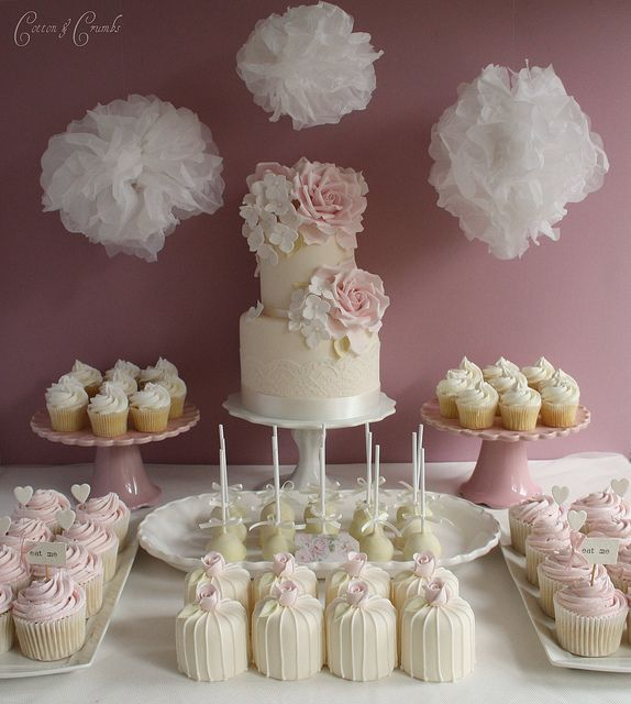 Cake desert table by Cotton and Crumbs, via Flickr