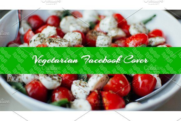 Vegan / Food Facebook Cover theme by NeptuneOnline on @creativemarket