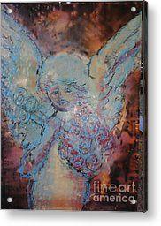 Franklin Angel Acrylic Print by Amy Stielstra