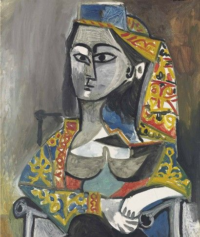 The work depicts Jacqueline Roque, one of Picasso's most significant muses.  Picasso's Femme au Costume could make $32.8m in London