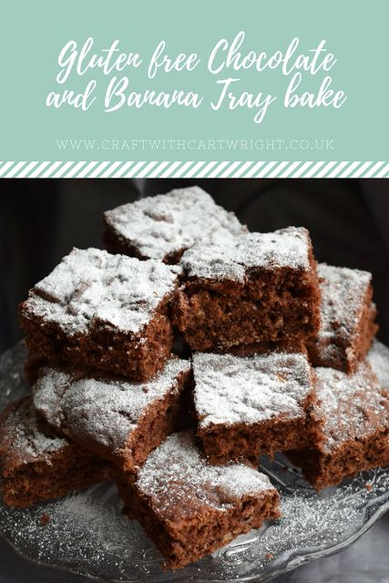 Gluten free Chocolate and Banana tray bake recipe