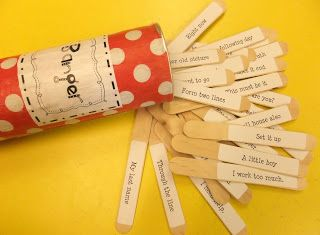 An awesome and fun way to practice reading fluency using fry phrases on sticks!