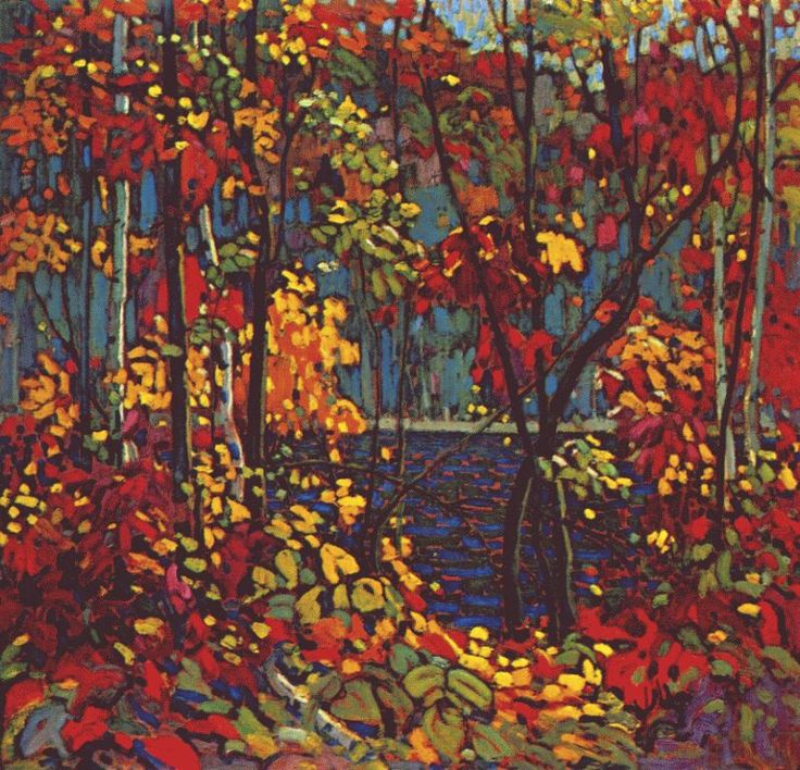 Tom Thomson - the pool    reminds me of the animation of the last unicorn.