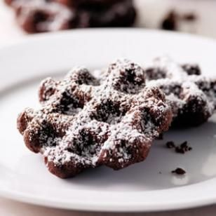 Boot Tracks. Patti Anderson, a professional quilter, had never entered a cooking contest before she took our challenge. This quick, no-fuss, chewy chocolate cookie is made on your waffle iron. No need to haul out the big mixer, you can mix the batter with a small hand mixer or even by hand. Kids love these!