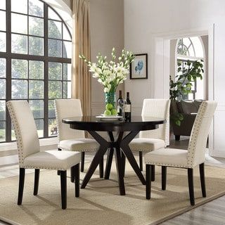 dining chairs overstock revolving online pakistan parcel upholstered grey and beige chair com shopping the best deals on kitchen pinterest furniture