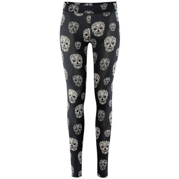 Black Crazy Womens Shaping Skeleton Leggings ($24) ❤ liked on Polyvore featuring pants, leggings, bottoms, black, skeleton leggings, black trousers, black leggings and black pants